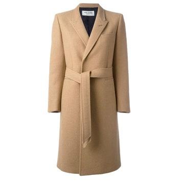 Пальто из верблюжьей шерсти, 188 683 руб. (вместо 331 024 руб.), Saint Laurent