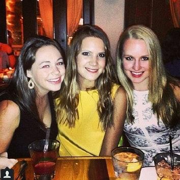 Кира Пластинина с подругами